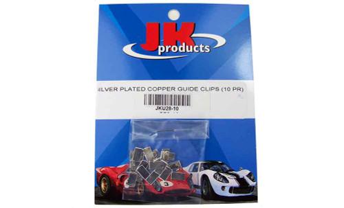 JK Silver Plated Copper Guide Clips 10 pr Pack - JK-U28-10