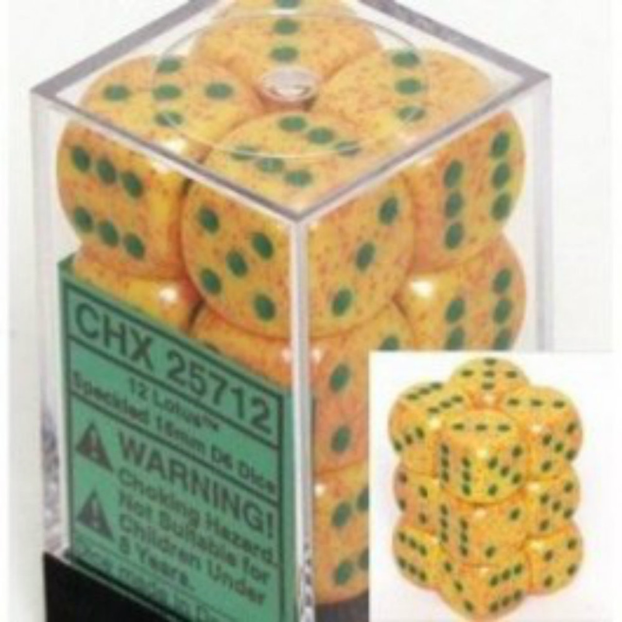 Chessex Speckled Lotus Set of 12 d6 16mm Dice (CHX25712)