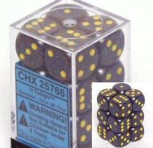 Chessex Speckled Twilight Set of 12 d6 16mm Dice (CHX25766)