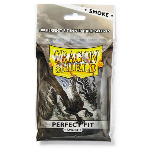 Dragon Shield Card Sleeves: Perfect Fit - Smoke Toploaders (100)