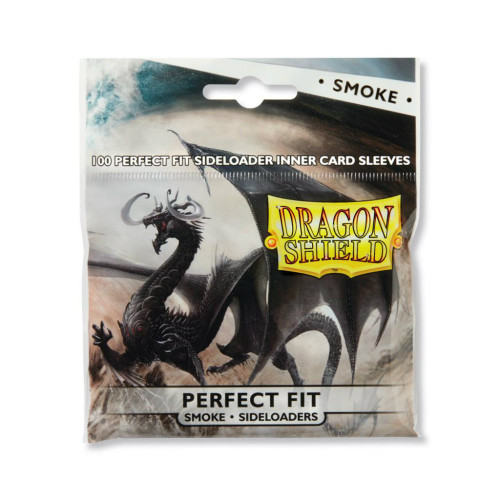 Dragon Shield Card Sleeves: Perfect Fit - Smoke Sideloaders (100)