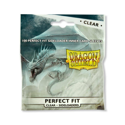 Dragon Shield Card Sleeves: Perfect Fit - Clear Sideloaders (100)
