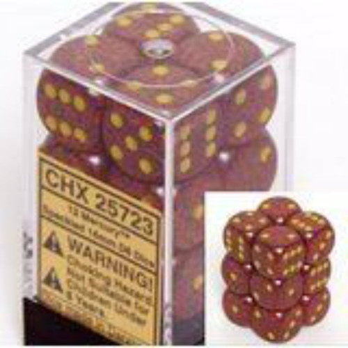 Chessex Speckled Mercury Set of 12 d6 16mm Dice (CHX25723)