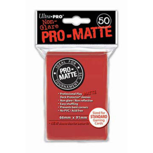 Ultra Pro: Pro-Matte Standard Deck Protectors - Red (50 ct)