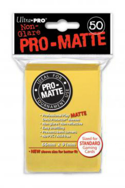Ultra Pro: Pro-Matte Standard Deck Protectors - Yellow (50 ct)
