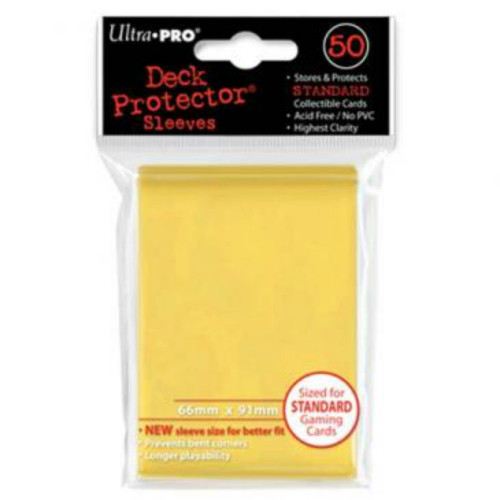 Ultra Pro: Standard Deck Protectors - Yellow (50 ct)