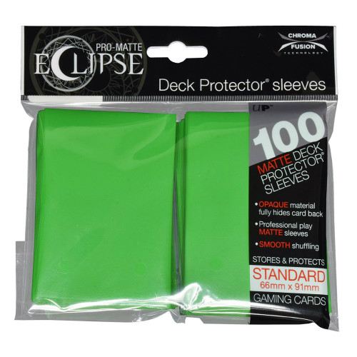 Ultra Pro: Pro-Matte Eclipse Standard Card Sleeves - Lime Green (100)