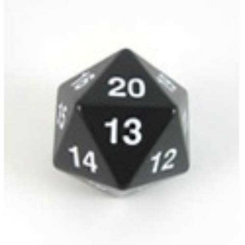 Koplow Games: Jumbo 55Mm D20 Die (Black/White)