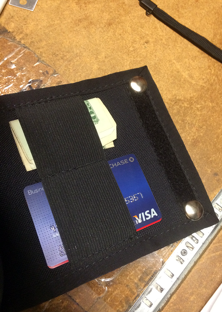 """Accessory Panel Unit (APU-1), 5"""" x 7.5"""" rear of the pouch (cash and card shown are not included)"""