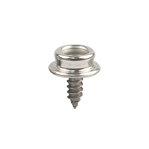 "Snap Fastener Screw Stud 3/8"", Stainless Steel-4pk"