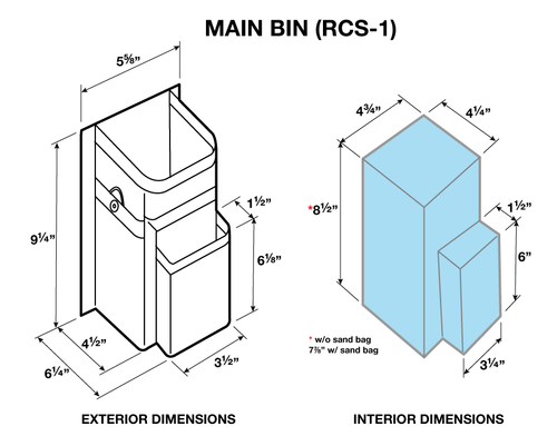 Refuse Containment System- Main Unit Kit (RCS-1K) Dimensional drawing