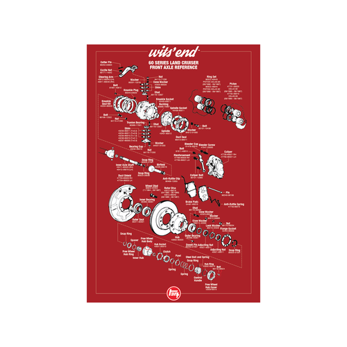 "60/62 Series Front Axle Reference Poster- 18""x27"""