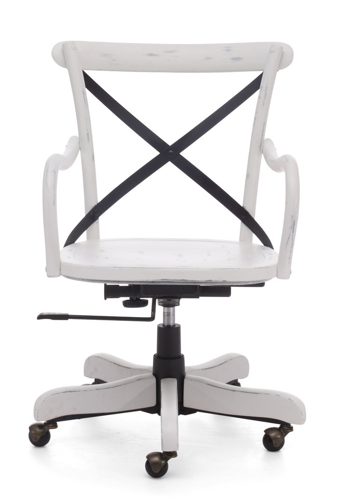 98032 Union Square Office Chair Antique White 816226022111 Seating Modern Antique White Office Chair by  Zuo Modern Kassa Mall Houston, Texas Best Design Furniture Store Serving Houston, The Woodlands, Katy, Sugar Land, Humble, Spring Branch and Conroe