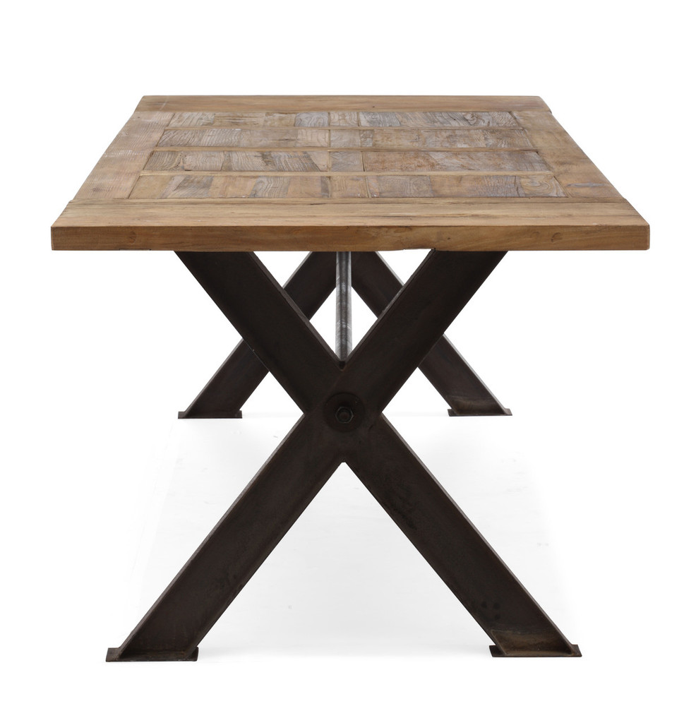 98162 Haight Ashbury Table Distressed Natural 816226022463 Tables Modern Distressed Natural Table by  Zuo Modern Kassa Mall Houston, Texas Best Design Furniture Store Serving Houston, The Woodlands, Katy, Sugar Land, Humble, Spring Branch and Conroe