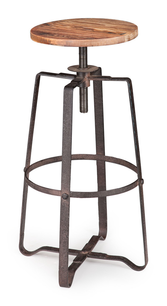 98313 Wilde Barstool Distressed Natural 816226027314 Seating Modern Distressed Natural Barstool by  Zuo Modern Kassa Mall Houston, Texas Best Design Furniture Store Serving Houston, The Woodlands, Katy, Sugar Land, Humble, Spring Branch and Conroe