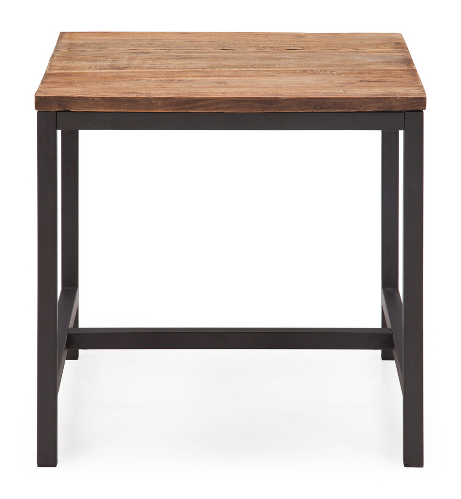 98323 Fitch Side Table Distressed Natural 816226027413 Tables Modern Distressed Natural Side Table by  Zuo Modern Kassa Mall Houston, Texas Best Design Furniture Store Serving Houston, The Woodlands, Katy, Sugar Land, Humble, Spring Branch and Conroe