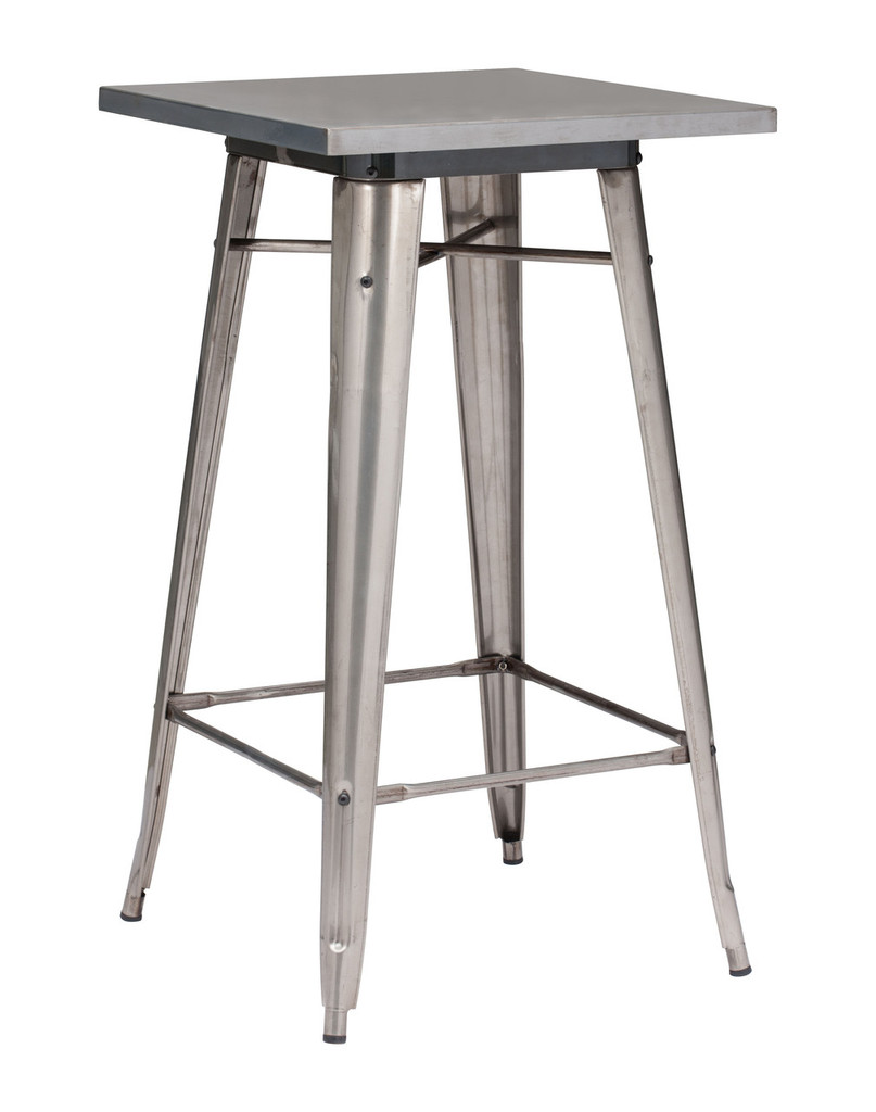 601189 Olympia Bar Table Gunmetal 816226023651 Tables Modern Gunmetal Bar Table by  Zuo Modern Kassa Mall Houston, Texas Best Design Furniture Store Serving Houston, The Woodlands, Katy, Sugar Land, Humble, Spring Branch and Conroe