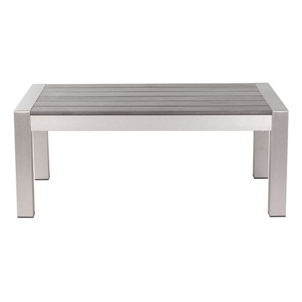 701860 Cosmopolitan Coffee Table Brushed Aluminum 816226021640 Brush Aluminum Modern Brushed Aluminum Coffee Table by  Zuo Modern Kassa Mall Houston, Texas Best Design Furniture Store Serving Houston, The Woodlands, Katy, Sugar Land, Humble, Spring Branch and Conroe