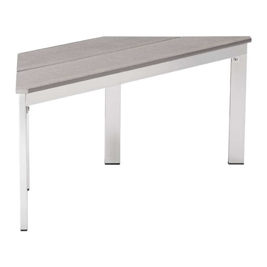 703216 Center Bench Gray 816226025778 Brush Aluminum Modern Gray Bench by  Zuo Modern Kassa Mall Houston, Texas Best Design Furniture Store Serving Houston, The Woodlands, Katy, Sugar Land, Humble, Spring Branch and Conroe