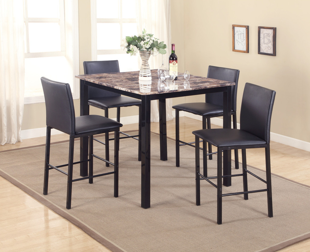 AIDEN COUNTER HEIGHT DINING TABLE TOP 5 Piece Set