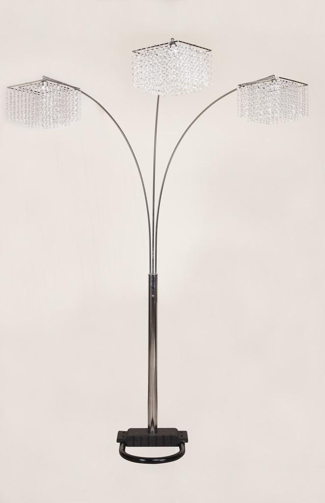 Crystal Floor Lamp - 6217F-SV