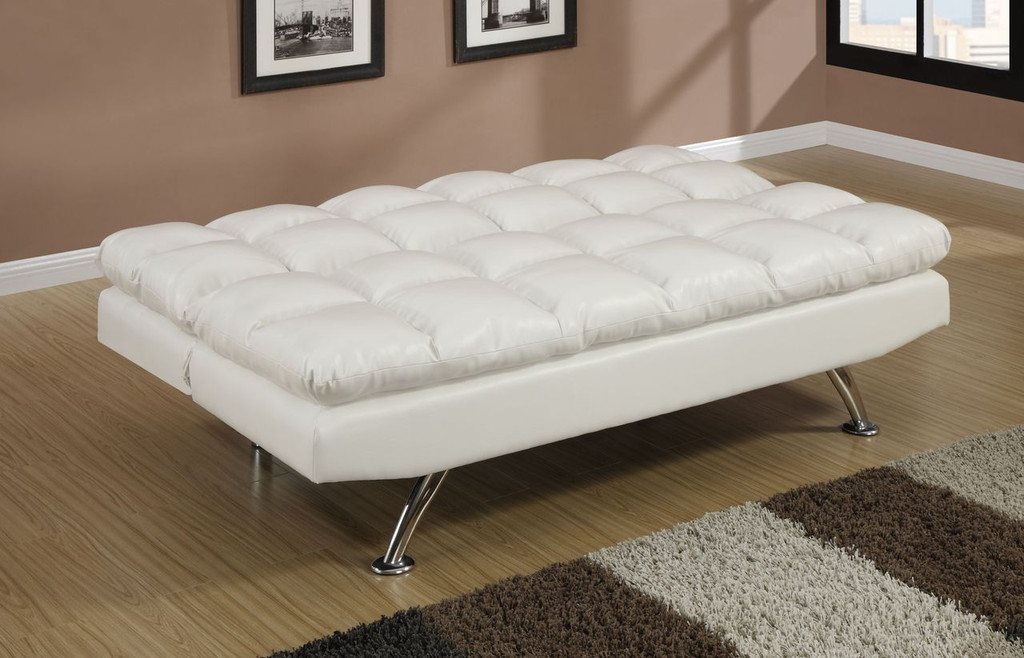 CONTEMPORARY ADJUSTABLE SOFA LEATHER/CREAM