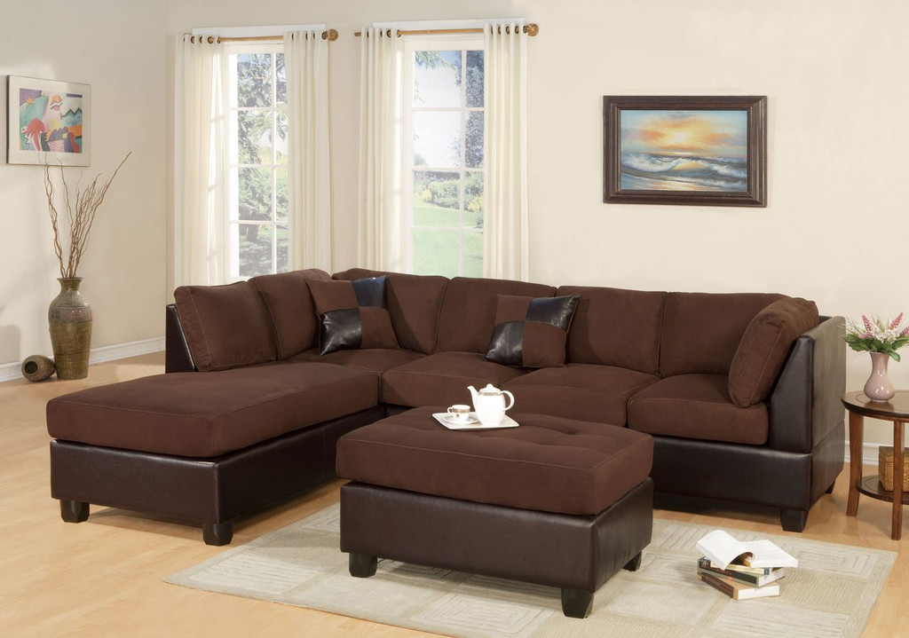 3 PCS REVERSIBLE CHOCOLATE SECTIONAL SET