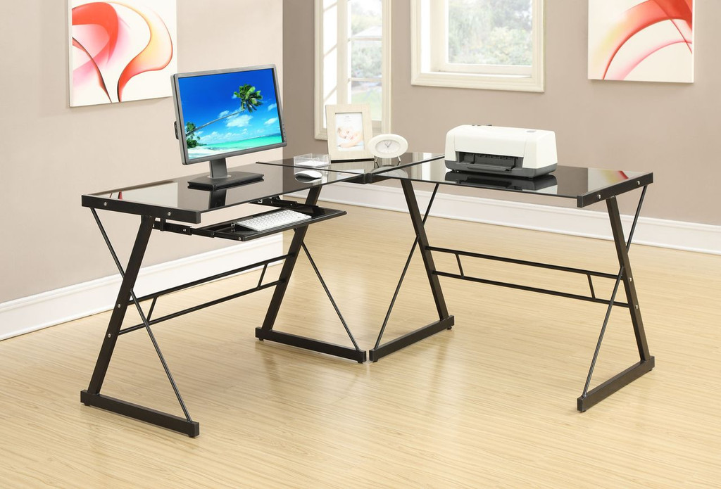 3-PCS WORK STATION-BLACK