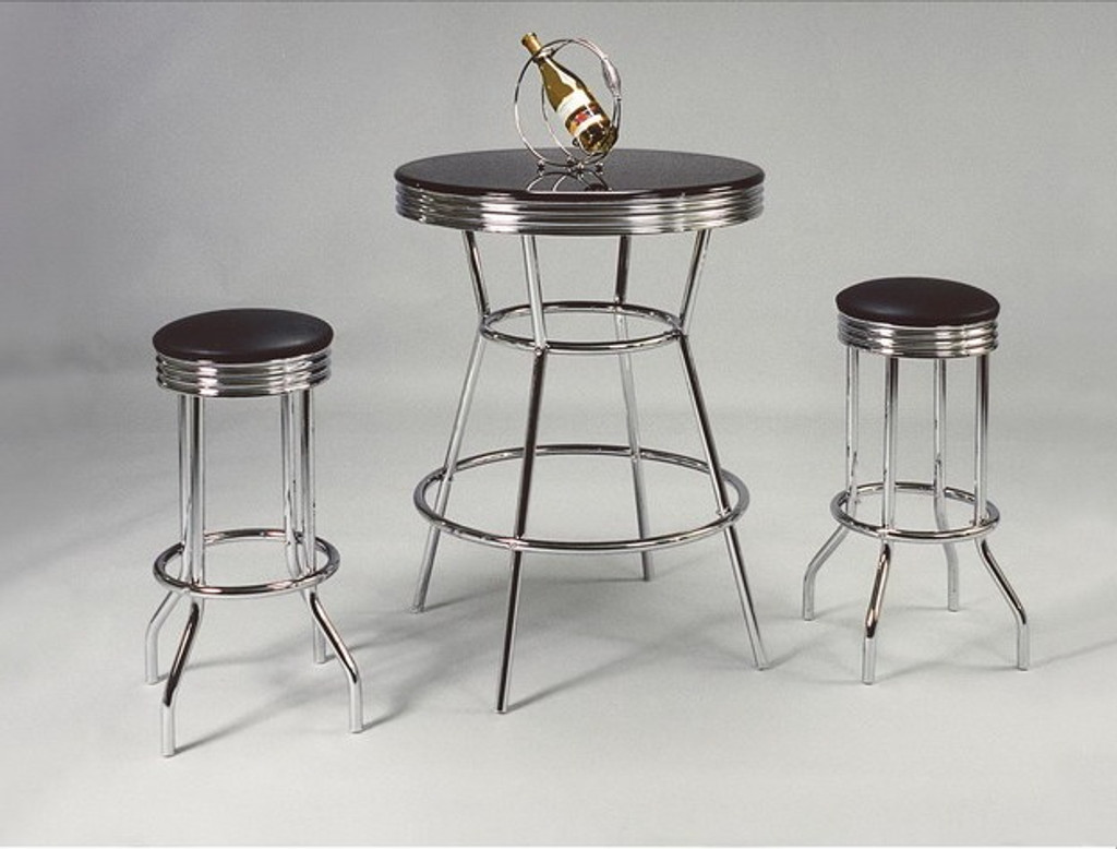 BAR TABLE/CHAIR SET (SWIVAL) TOP 3 Piece Set - 3905SET