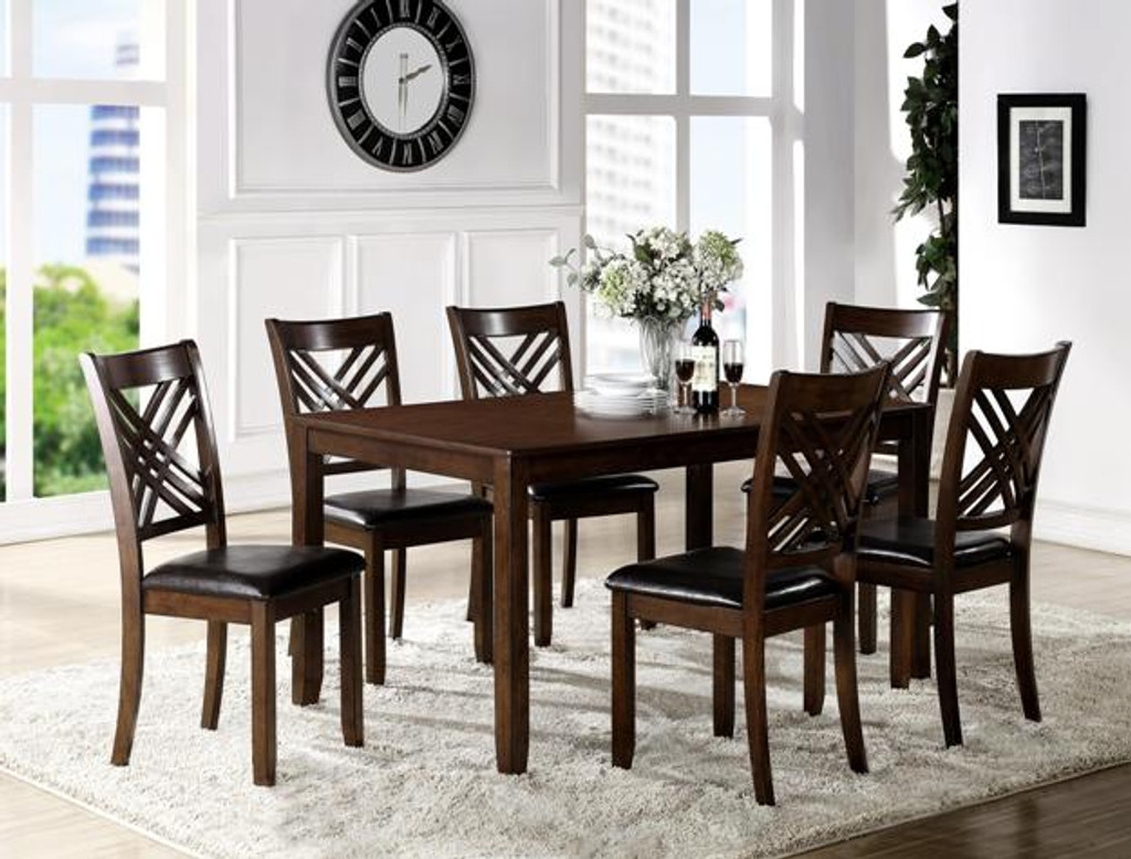 ELOISE 7 PC Dining Room Table Set SET