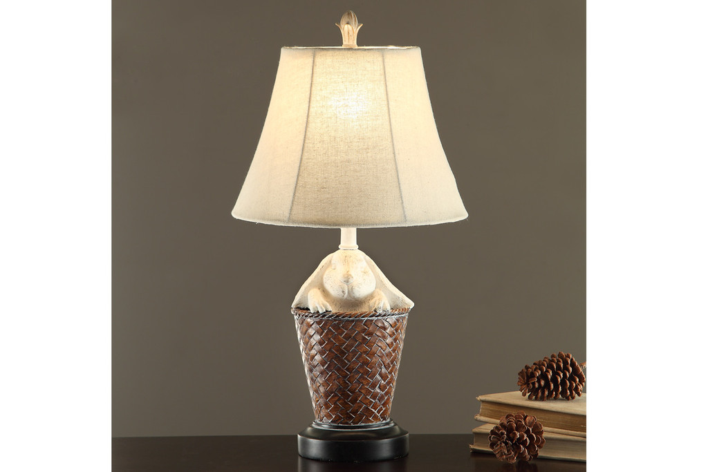 "BASKET-WEAVE TEXTURED BASE LAMP 23"" H (2 LAMPS)"