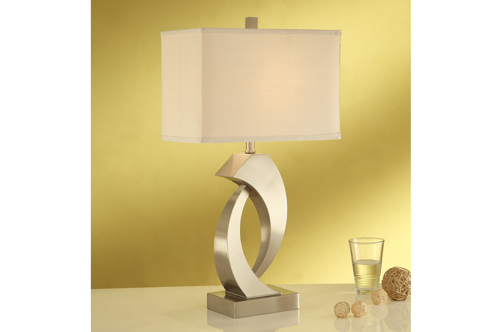 "ABSTRACT SCULPTURE BASE TABLE LAMP 30""H (2 LAMPS)"