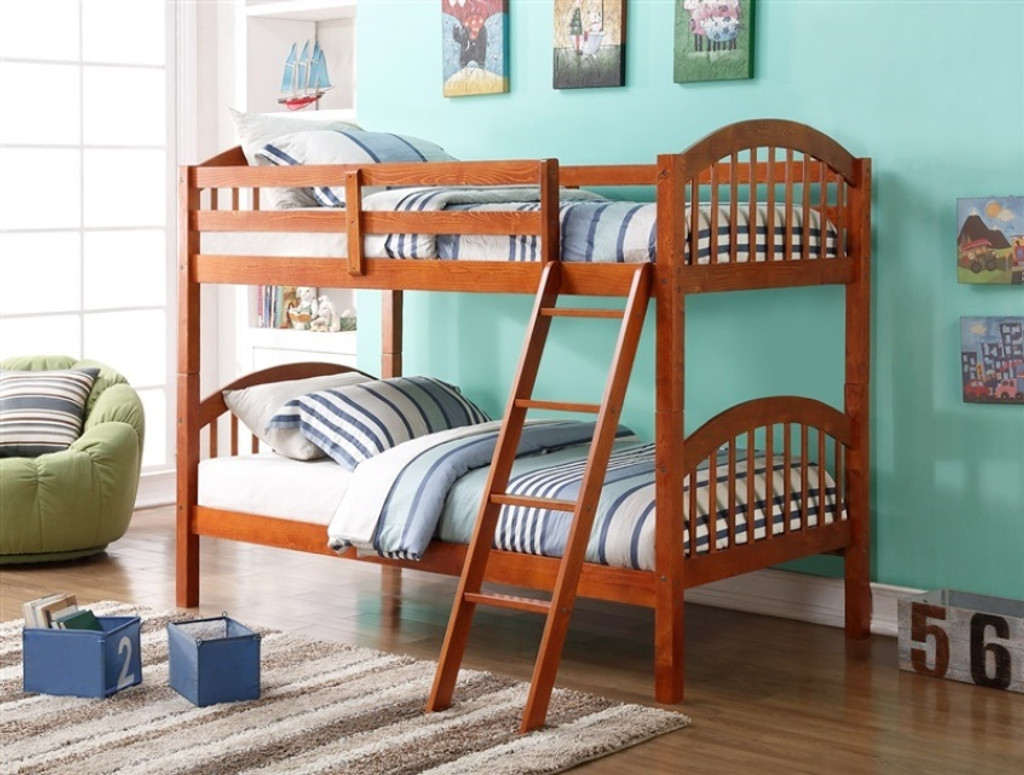 Twin Over Twin Bunk Bed - Oak
