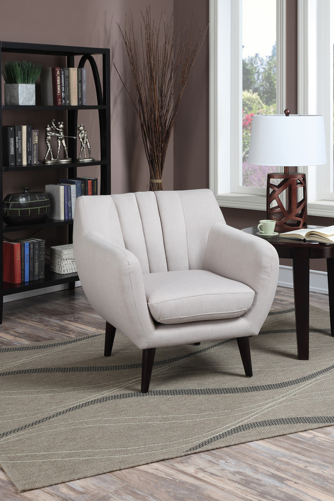 ACCENT CHAIR IN BEIGE COLOR