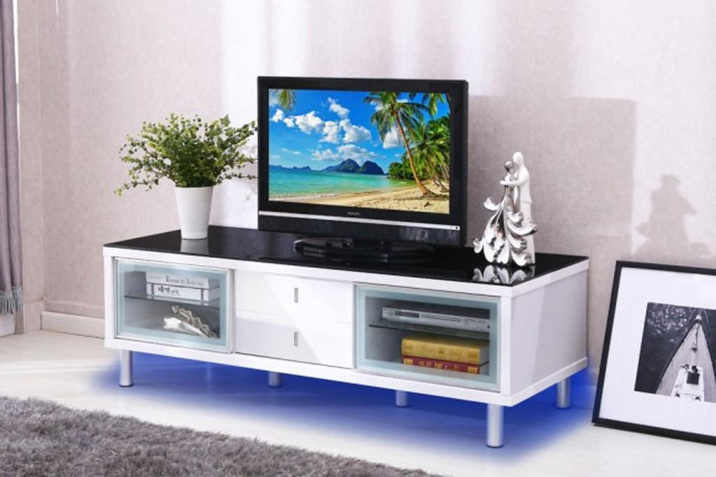 TV Stand - WHITE - GLOSSY