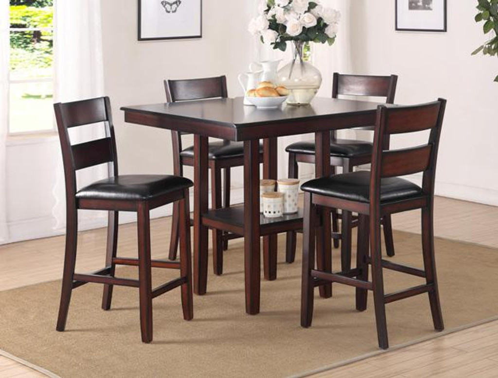 COLBERT COUNTER HEIGHT DINING TABLE TOP 5 Piece Set  - 2615SET