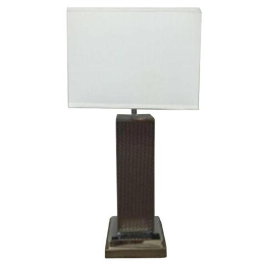 LEATHER PILLAR TABLE LAMP (SET OF 2)