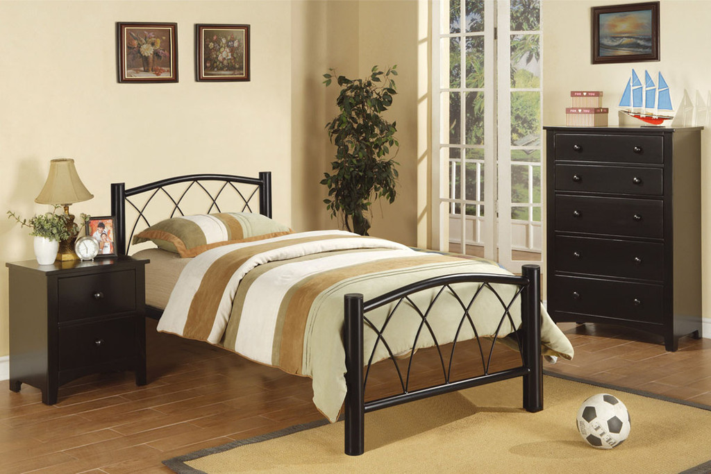 TEEN ROOM TWIN/FULL SIZE BED METAL FRAME