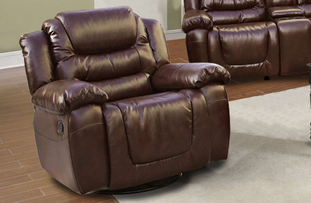 Benjamin 3PC Sofa Loveseat With Recliner & Drop Table Set - GS3888