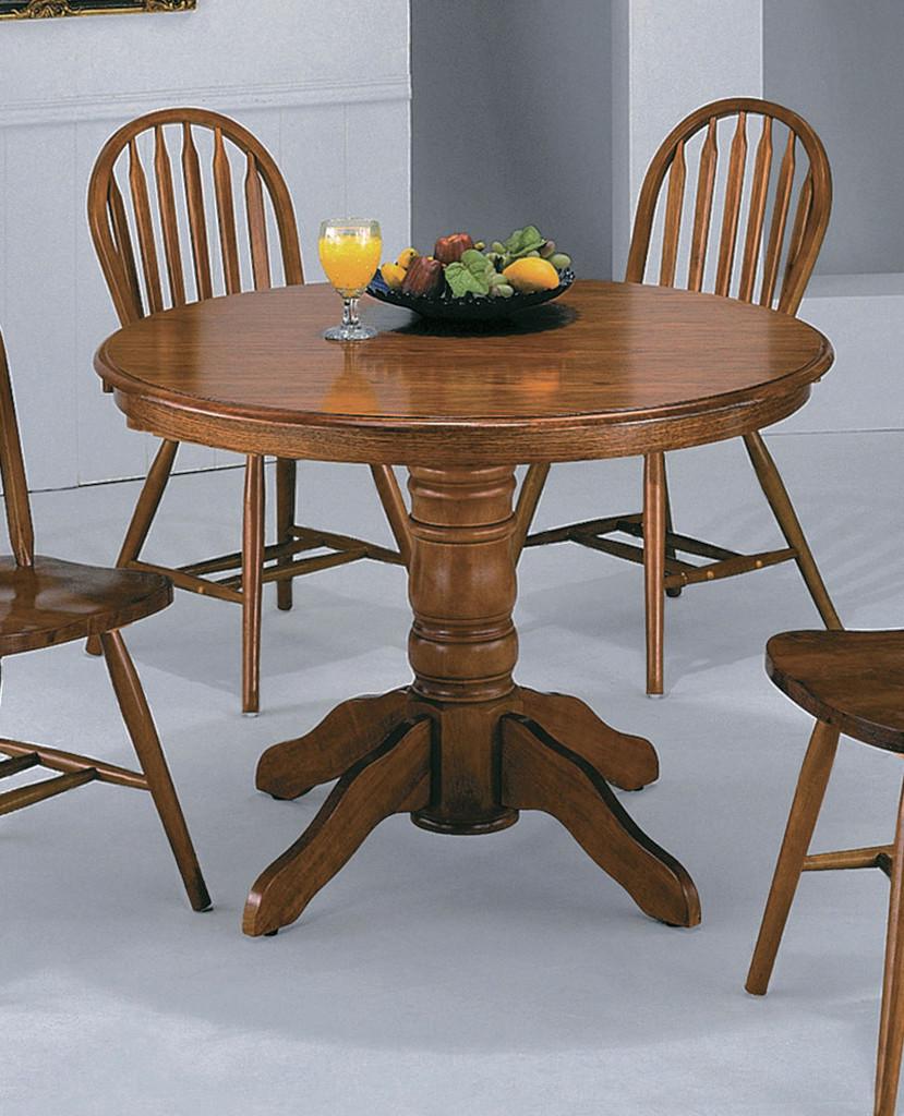 DARK OAK PEDESTAL TABLE-1056D/OAK
