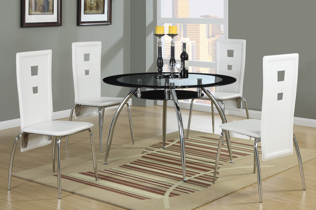 CONTEMPORARY STYLE DINING CHAIR WHITE 2 PCS SET-F1276