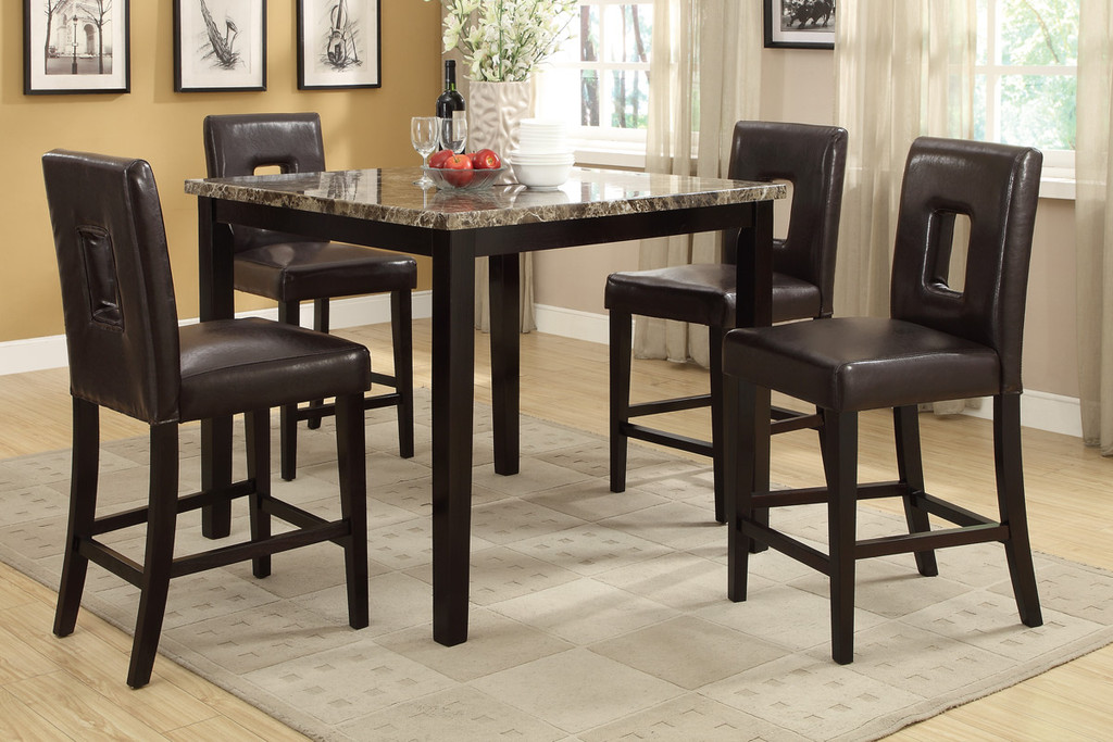 BROWN COUNTER HEIGHT CHAIR 2 PCS SET-F1321/BR