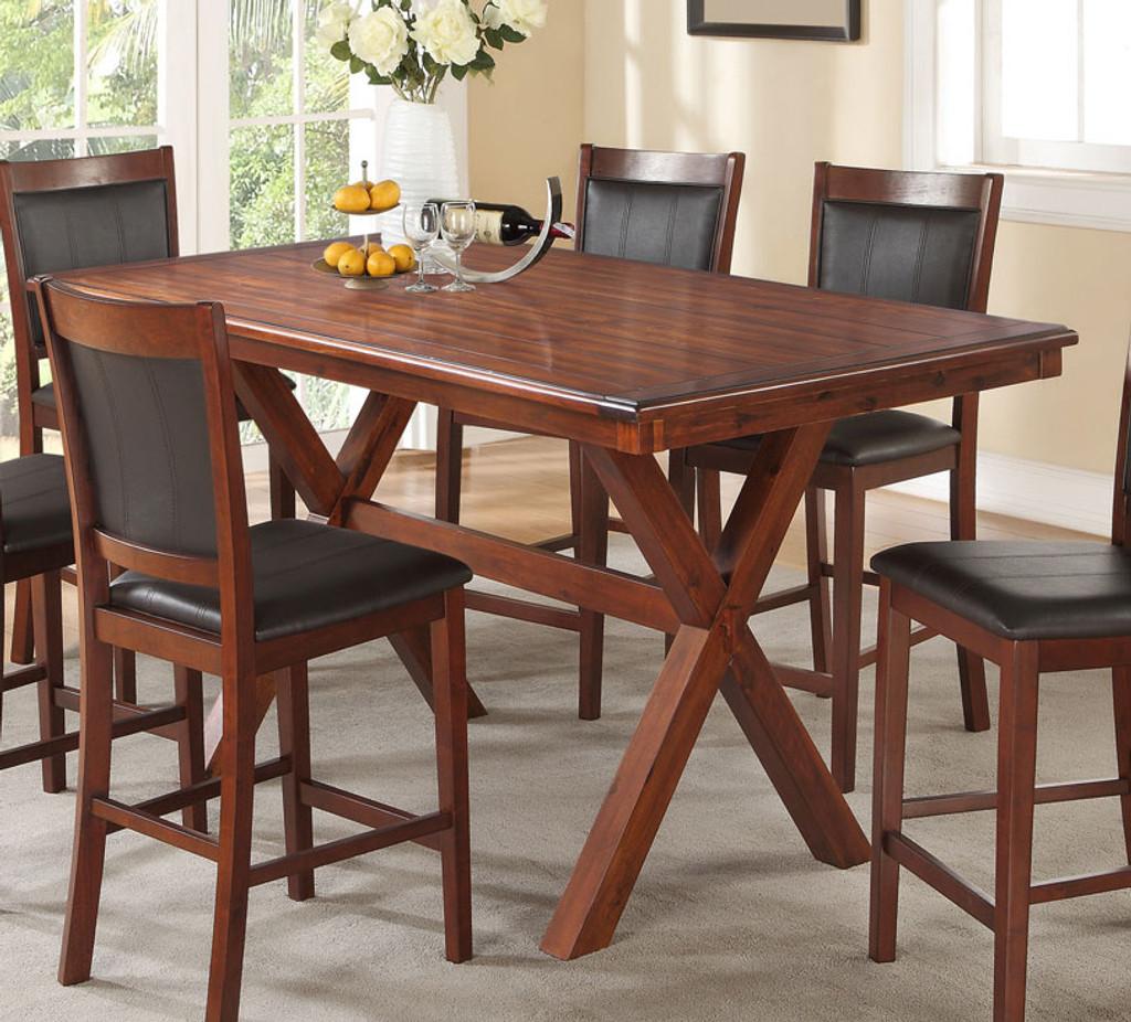 ACACIA RECTANGULAR COUNTER HEIGHT TABLE F2263