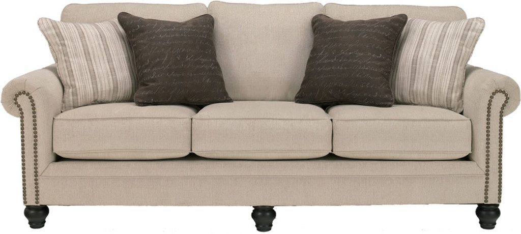 LINEN QUEEN SLEEPER SOFA-130-Queen Sleeper