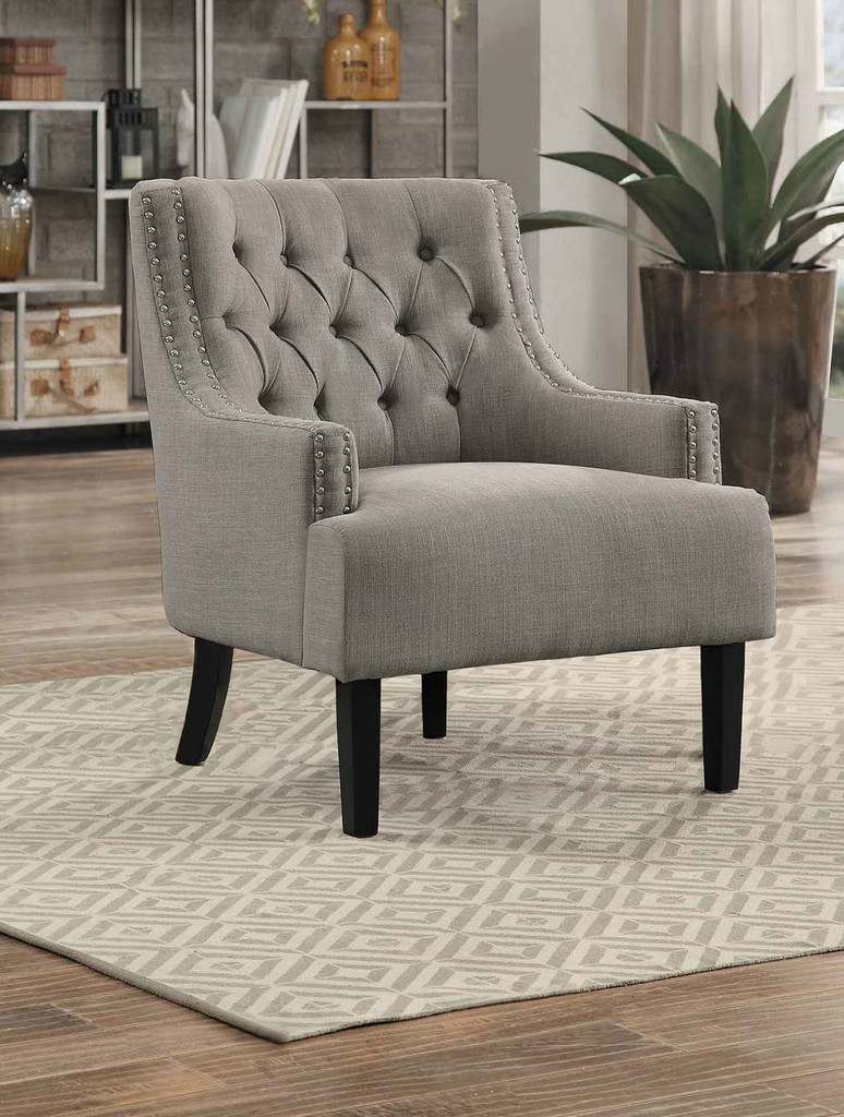 CHARISMA ACCENT CHAIR TAUPE-1194TP