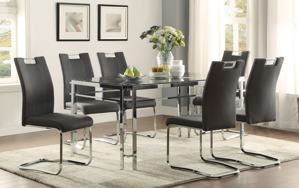 5PCS DINING SET WATT COLLECTION IN GREY COLOR