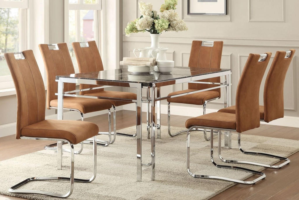 5PCS DINING SET WATT COLLECTION IN BROWN COLOR
