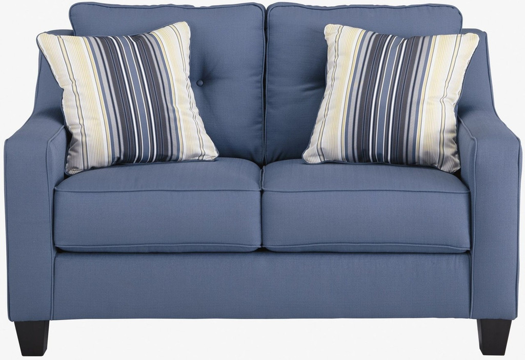 ALDIE NUVELLA BLUE COLLECTION SOFA CHAISE AND LOVE SEAT 2 PCS SET-68703-18-35