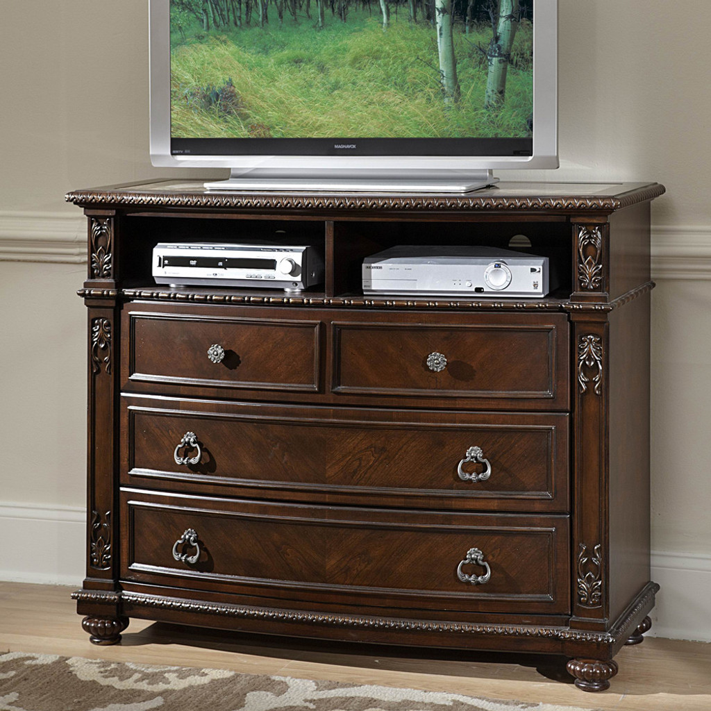 Hillcrest Manor Collection TV CHEST MARBLE INSERT
