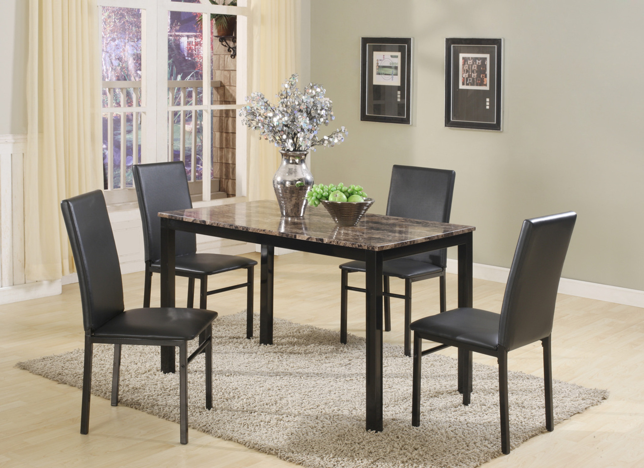 Aiden 5 PK Dinette Table and 4 Chairs